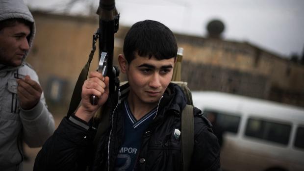 A Free Syrian Army fighte
