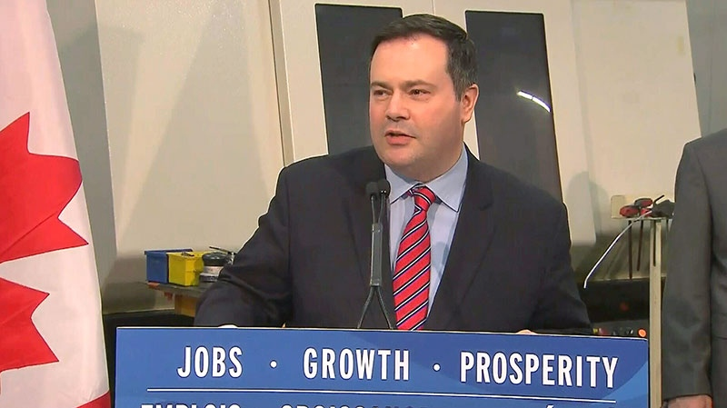 Immigration Minister Jason Kenney speaks to reporters at the Cyclone MFG Inc. Century Plant in Mississauga, Ont., Monday, Dec. 10, 2012.