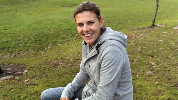 Soccer player Christine Sinclair