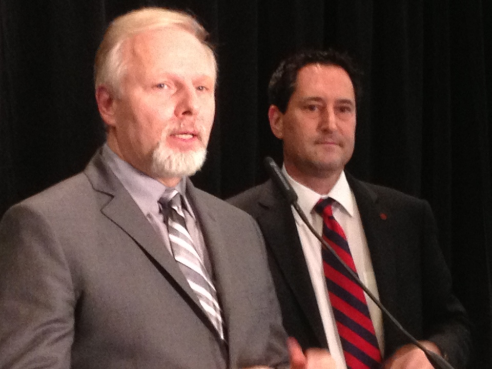 PQ minister Jean-Francois Lisée and Montreal mayor Michael Applebaum say changes to fight corruption are being made. (Dec. 10, 2012. CTV Montreal/Jason Clarke)