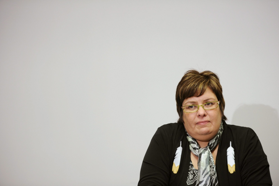 Attawapiskat chief Theresa Spence speaks during a press conference in Ottawa in this 2011 file photo. (Sean Kilpatrick/THE CANADIAN PRESS)