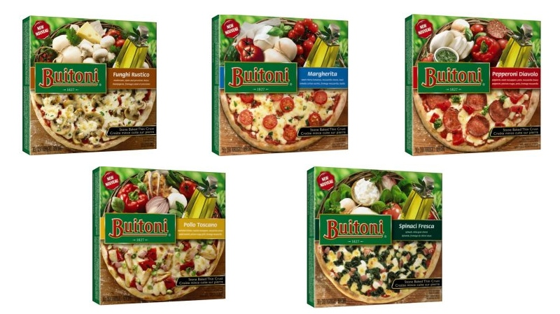 The affected varieties of Buitoni brand pizza are seen in this collection of undated handout images from the Canadian Food Inspection Agency. (CFIA/HO)