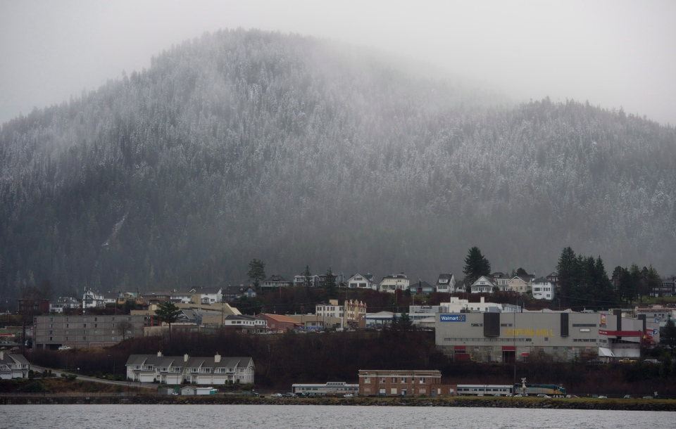 The U.S. Coast Guard is investigating the risks of a hypothetical tanker spill off the B.C. coast in areas like Prince Rupert, shown here on Dec. 11, 2012. (Jonathan Hayward / THE CANADIAN PRESS)
