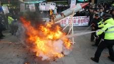 North Korea South Korea rocket launch