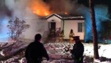 House, explodes, fire, AM