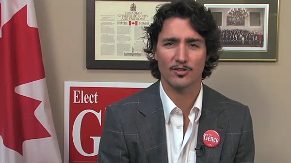 Liberal MP Justin Trudeau speaking in a video released to YouTube on Thursday, Nov. 25, 2010.