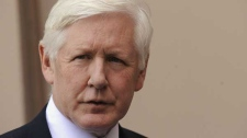 Canada Parliament member Bob Rae talks to reporters in Arlington, Va., Tuesday, June 8, 2010.