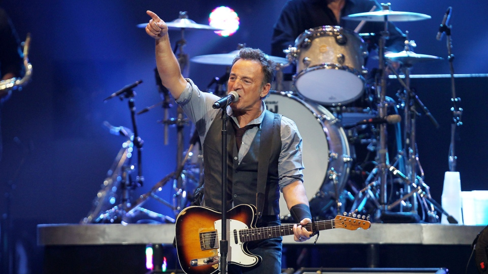 Bruce Springsteen performs at12-12-12, The Concert for Sandy Relief at Madison Square Garden in New York on Wednesday, Dec. 12, 2012. (AP / Starpix, Dave Allocca)