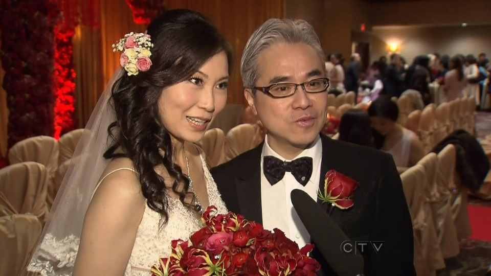 Newlyweds Loretta and Paul Oei tied the knot on Dec. 12, 2012.