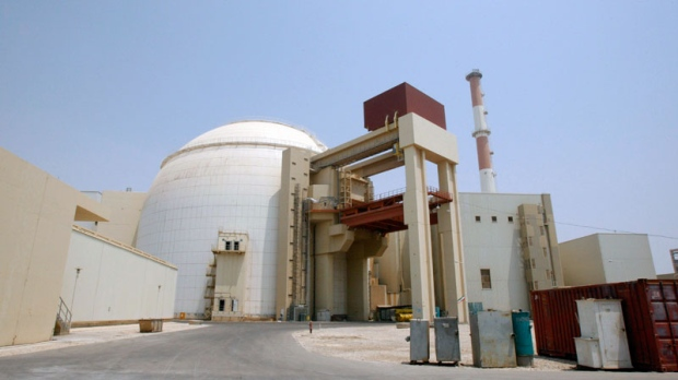 The reactor building of Bushehr nuclear power plant, just outside the southern city of Bushehr, Iran, Saturday, Aug. 21, 2010. (AP / Vahid Salemi)