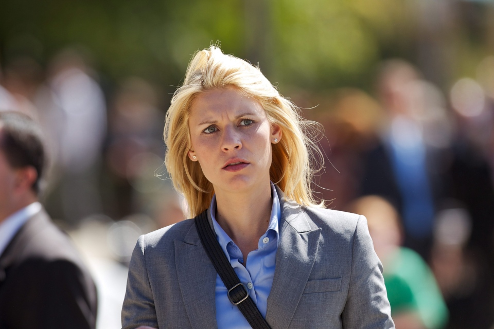 Claire Danes, as Carrie Mathison, in 'Homeland'