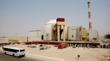 The reactor building of the Bushehr nuclear power plant is seen, just outside the southern city of Bushehr, Iran, Saturday, Aug. 21, 2010. (AP / Vahid Salemi)