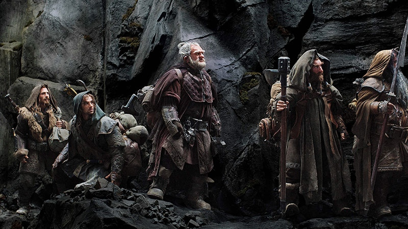 Dean O'Gorman as Fili, Aidan Turner as Kili, Mark Hadlow as Dori, Jed Brophy as Nori and William Kircher as Bifur in a scene from Warner Bros. Canada's 'The Hobbit: An Unexpected Journey.'
