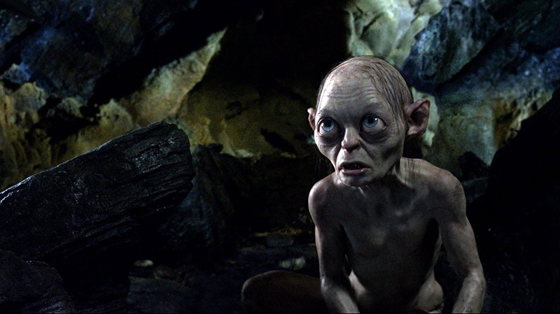The character Gollum, voiced by Andy Serkis, in a scene from Warner Bros. Canada's 'The Hobbit: An Unexpected Journey.'