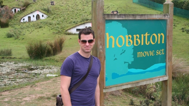 Hobbiton in the Lord of The Rings