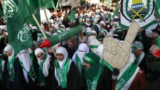 Hamas march West Bank