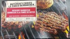 Loblaw CFIA recall Butcher's Choice frozen burgers