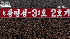 North Korea huge rally