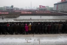 Korea huge rally soldiers people