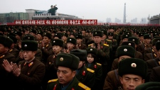 North Korea celebrations mass rally
