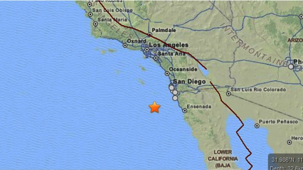 Two earthquakes strike close to California