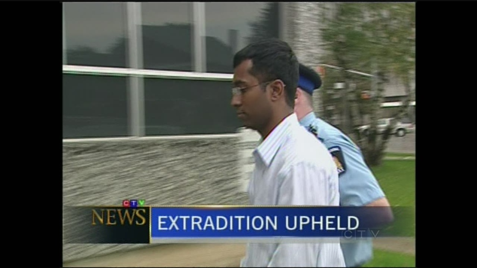 Suresh Sriskandarajah is seen here being led into court. The Supreme Court upheld a decision that Sriskandarajah be extradited to the United States to face terrorism-related charges.