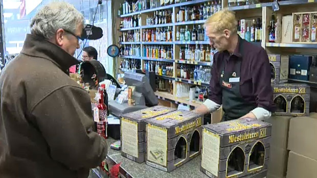 Sherbrooke Liquor says people were lining up outside the store Friday morning, hoping to get their hands on the rare Westvleteren beer from Belgium.