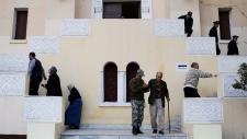 Voting in Cairo on constitution referendum