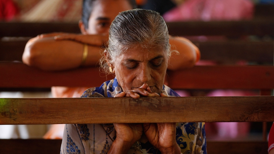 People offer mass prayers at a church in Shirva, north of Mangalore, India, Saturday, Dec. 15, 2012. (AP / Rafiq Maqbool)