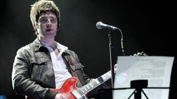 Noel Gallagher performs during at the Staples Center in Los Angeles in 2008. (AP / Chris Pizzello)