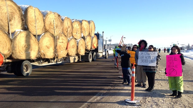 Idle No More Highway 1 protest