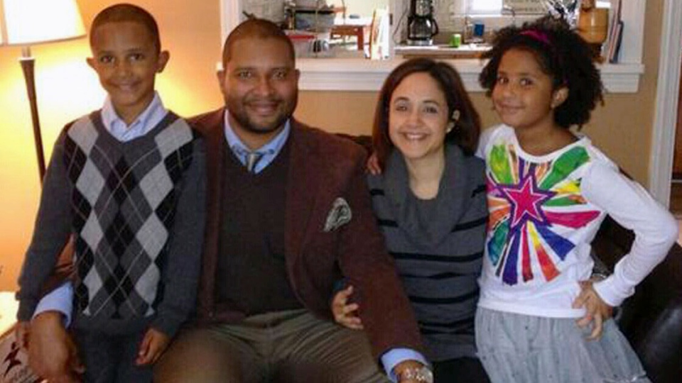 Photo of the Greene family. Among the children slain in the attack was former Winnipeg student Ana Marquez-Greene.