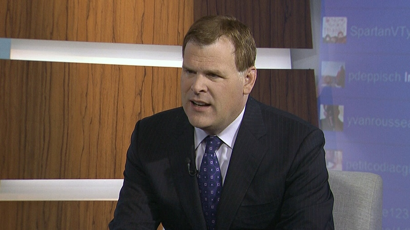 Foreign Affairs Minister John Baird appears on CTV's Question Period on Sunday, Dec. 16, 2012.
