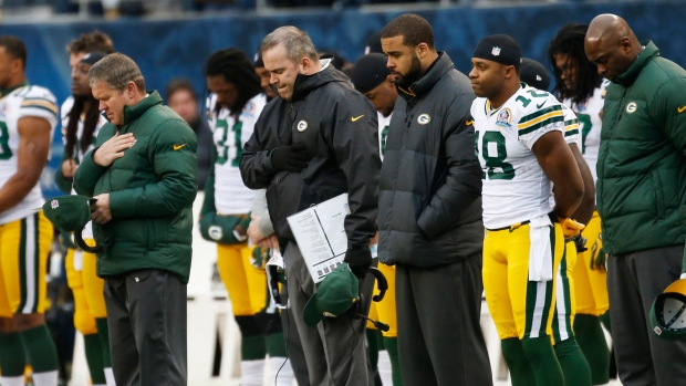 NFL moment of silence for shooting victims