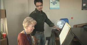 Barbara Baker and Ronaldo Soriano Trono perform in the geriatric ward of the Montreal General Hospital once per week.