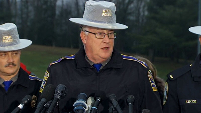 Lt. J. Paul Vance of the Connecticut State Police conducts a news briefing, in Newtown, Conn., on Sunday, Dec. 16, 2012.