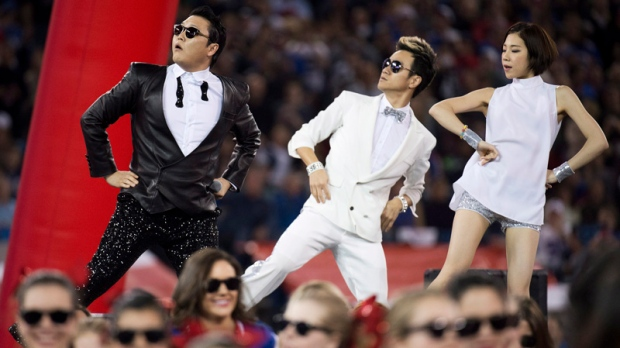 PSY rocks Rogers Centre