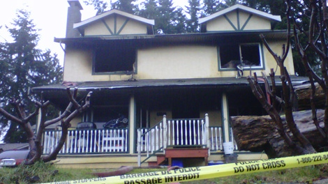 Two children under the age of five were killed during an overnight house fire in Surrey, south of Vancouver, on Nov. 30, 2010. (CTV)