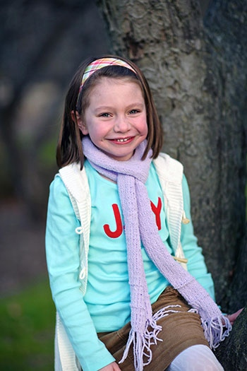 This Nov. 18, 2012 photo provided by John Engel shows Olivia Engel, 6, in Danbury, Conn. Olivia Engel. (Engel Family, Tim Nosezo)