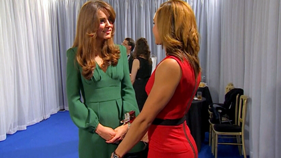 The Duchess of Cambridge Kate Middleton made her first public appearance since her hospitalization at the BBC Sports Personality of the Year awards on Sunday, Dec. 16, 2012.