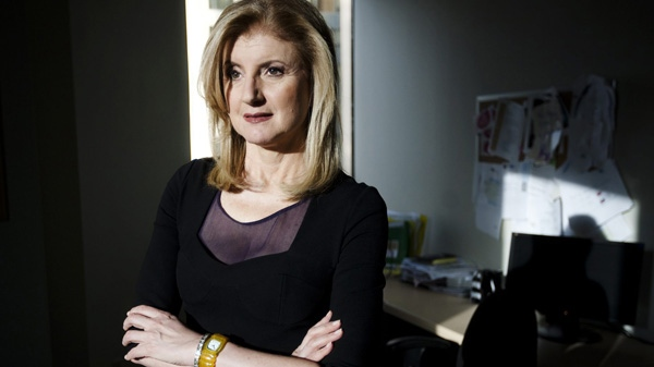 Arianna Huffington, co-founder of the Huffington Post, poses in Toronto Monday, November 29, 2010. (THE CANADIAN PRESS/Darren Calabrese)