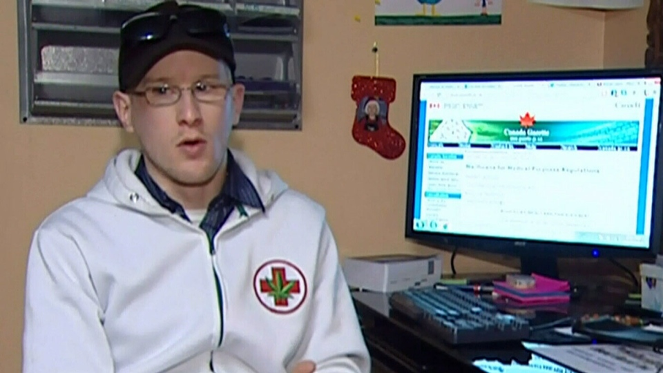Medical marijuana user Steven Stairs grows and smokes weed to relieve pain from glaucoma.
