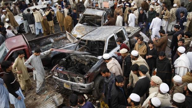 Jamrud, Pakistan bomb blast scene Dec. 17, 2012
