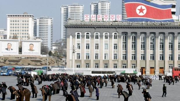 Kim Il Sung Square, Pyongyang, NKorea, Dec 17 2012