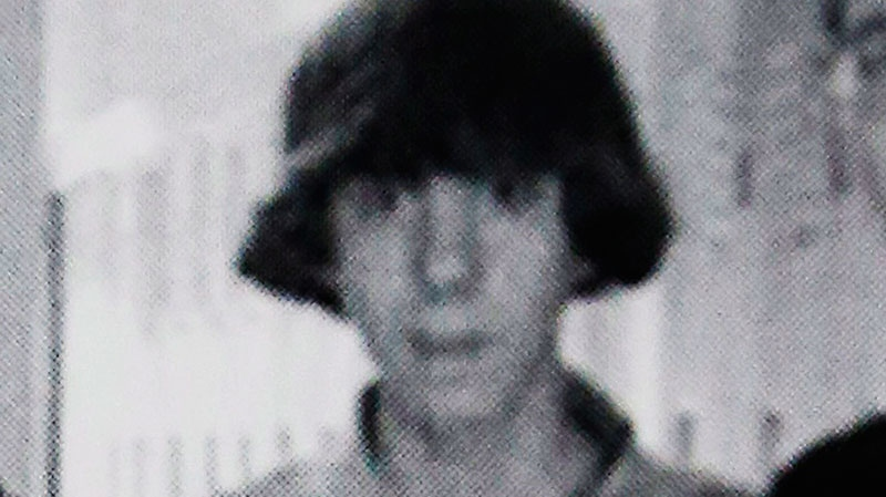 This undated photo shows Adam Lanza posing for a group photo of the technology club which appeared in the Newtown High School yearbook. (AP Photo)