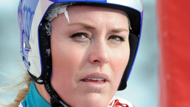 Lindsey Vonn at Alpine Ski World Cup race 2012