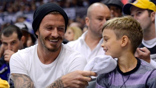 Romeo Beckham David Beckham