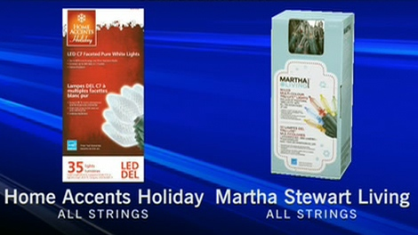 The Home Depot Canada recalls holiday light strings due to the potential risk for shock or fire.
