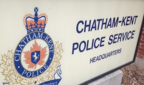 Chatham-Kent police headquarters sign in Chatham, Ont., Dec. 17, 2012. (Chris Campbell / CTV Windsor