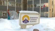 Edmonton Catholic flags